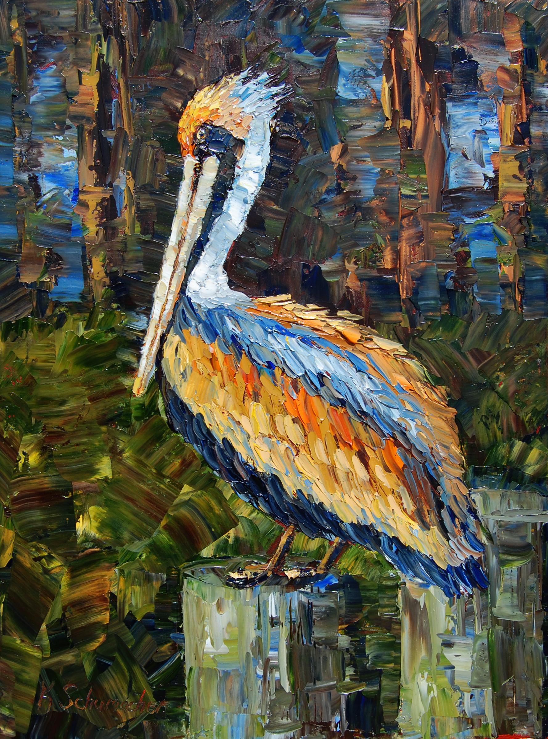 bayou pelican 18x24