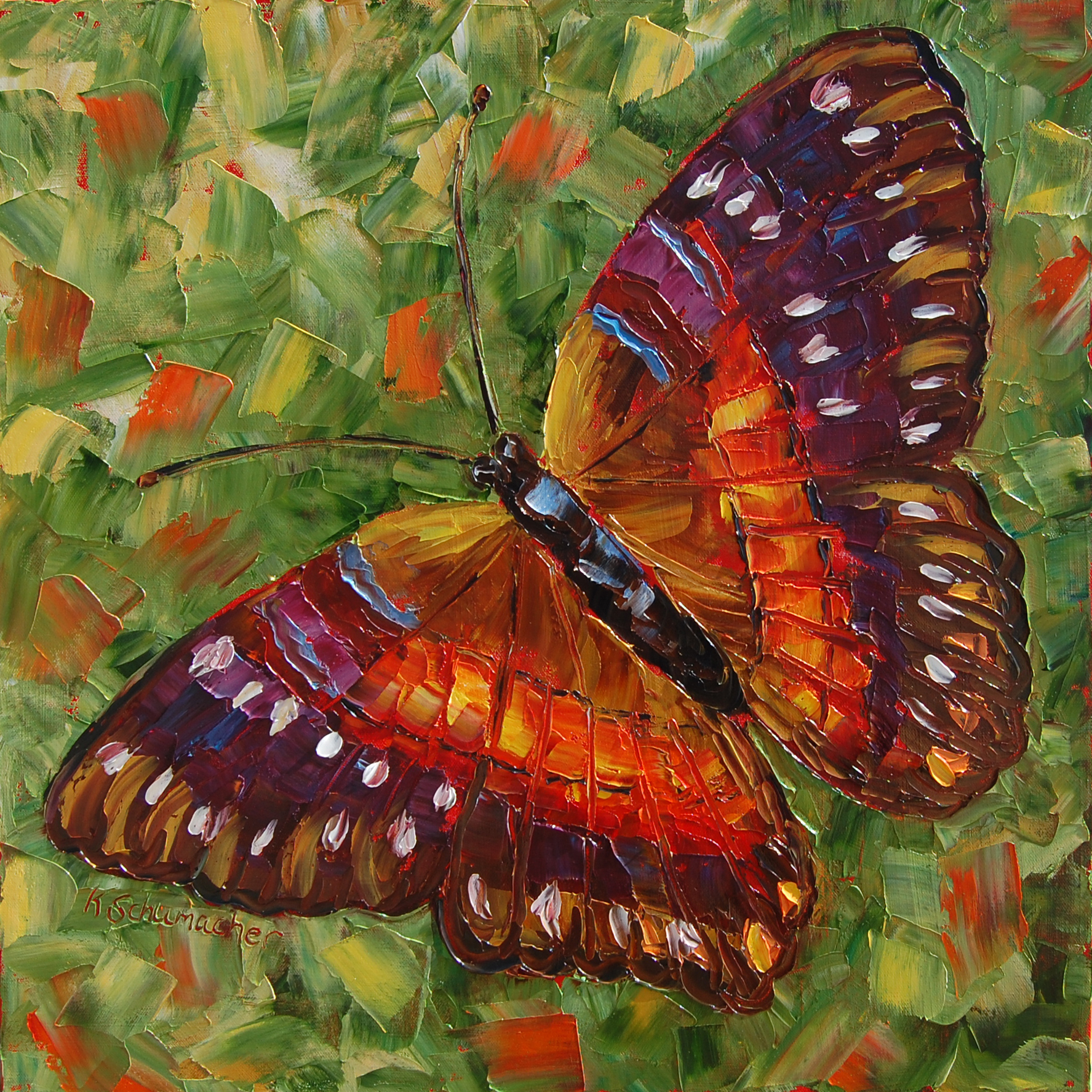 Spring Butterfly 24x24