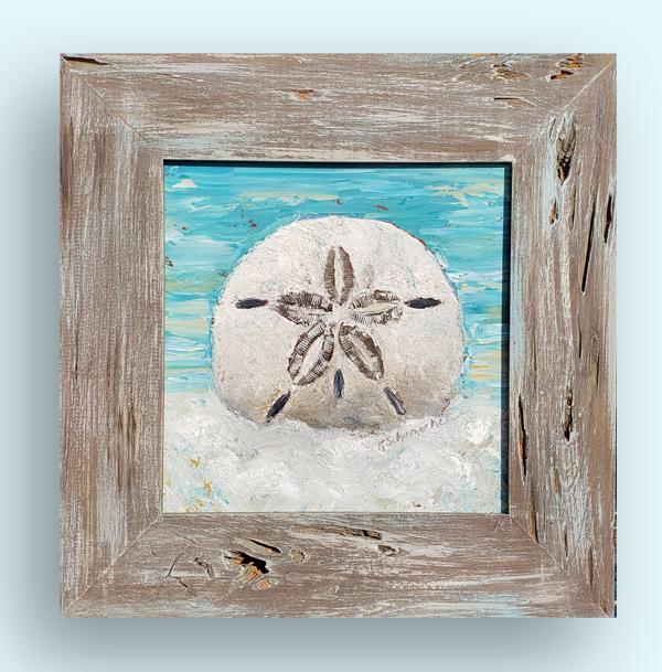 Beach medallion 19×19 hung small