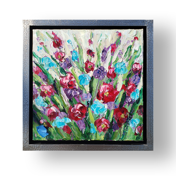 Pink Garden 14×14 low hung