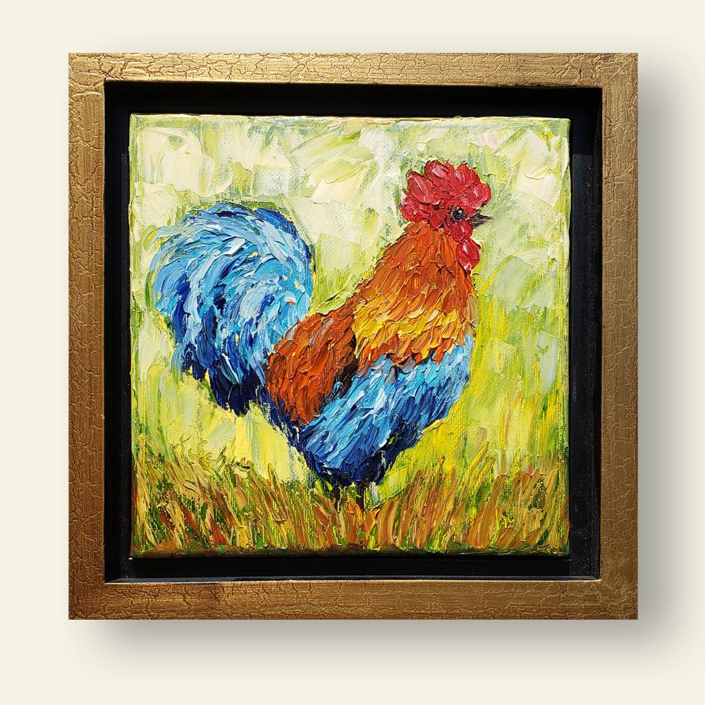 Radiant Rooster med 8×8 framed
