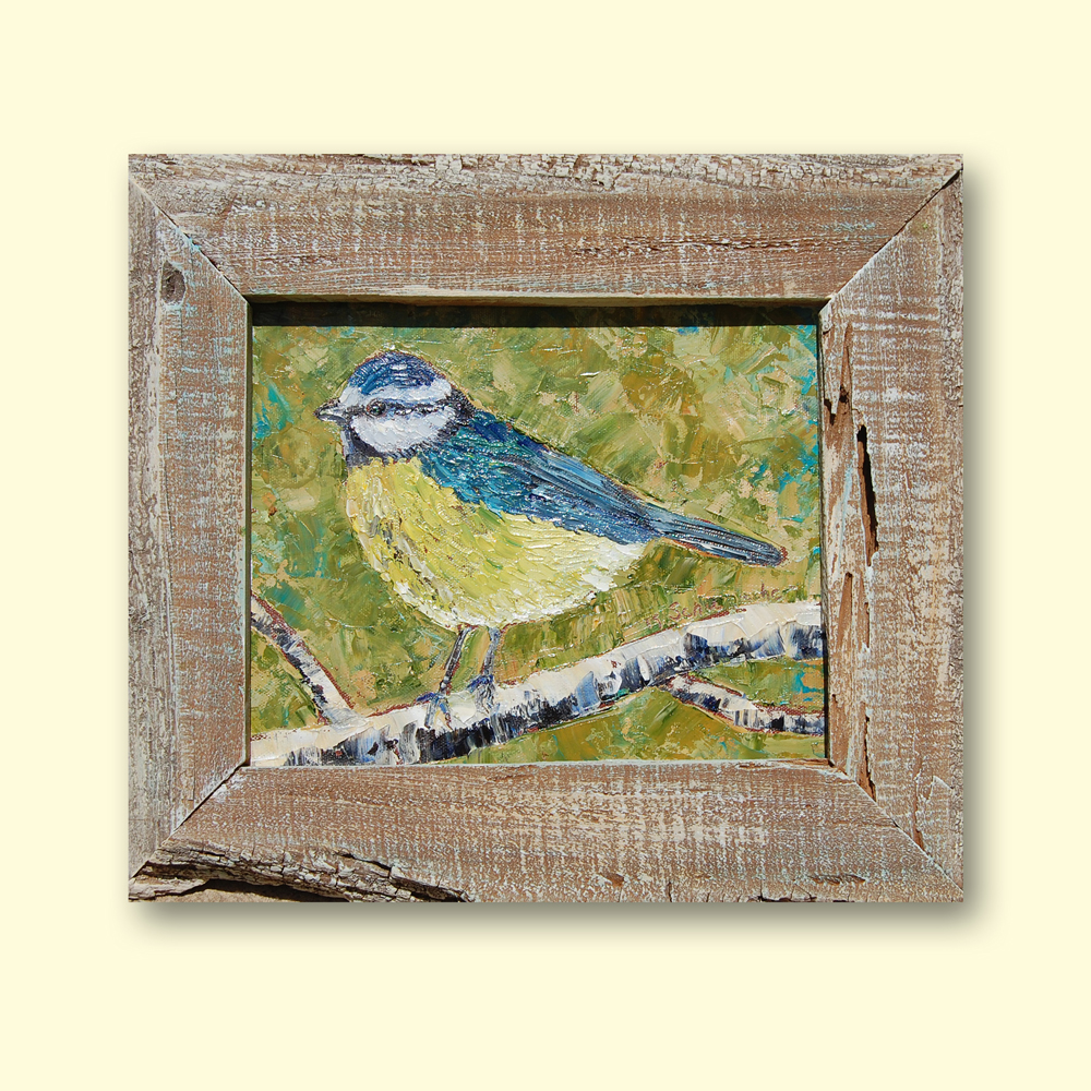 Spanish Chickadee 13×16 med hung
