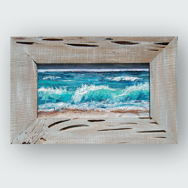 Rolling Tide 15×23 hung small
