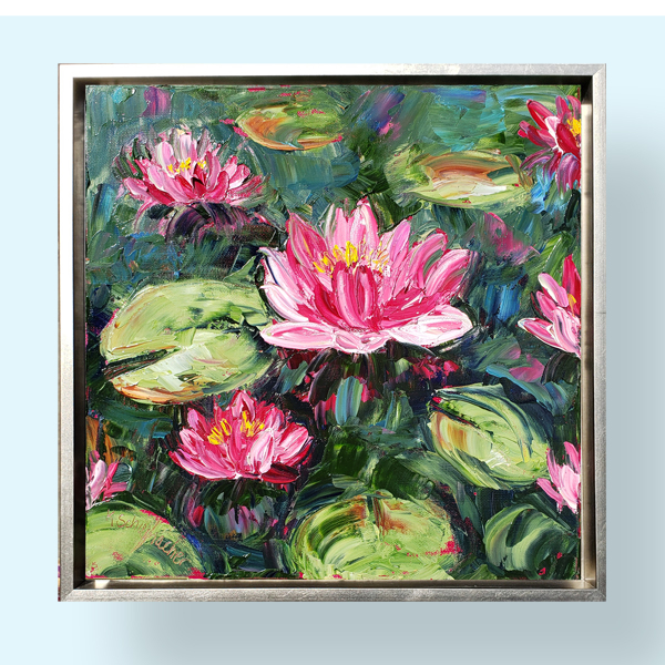 Water Lily 16×16 hung small file