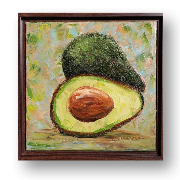 Avocado sliced 13×13 hung small