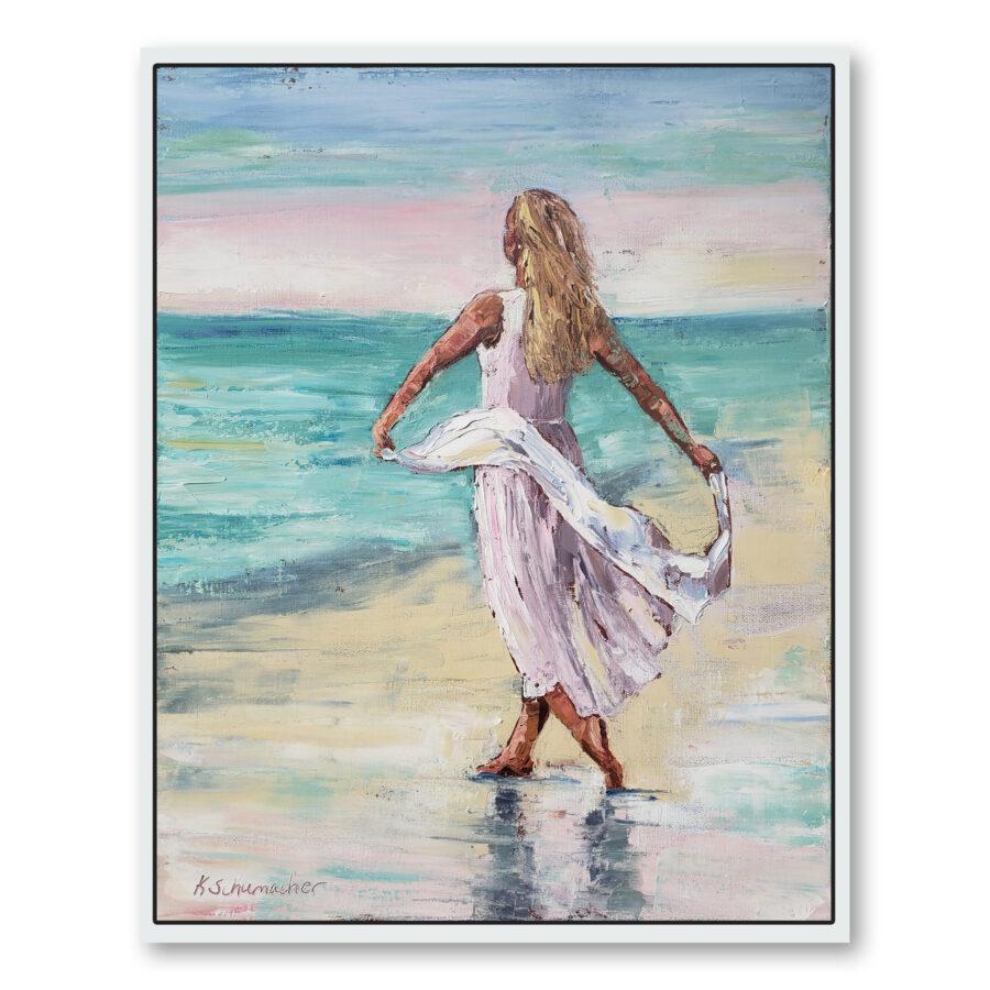 Beach Beauty framed and hung 22×18