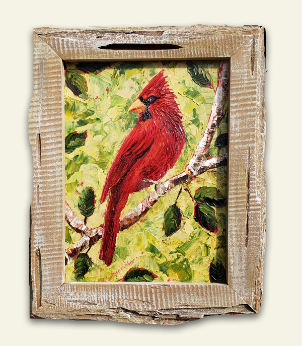 Cardinal Courage 14×10 small hung