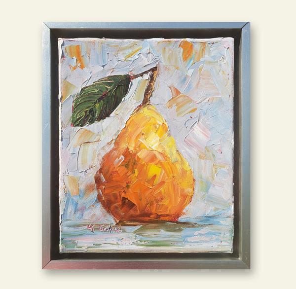 Ochre Pear 12×10 hung small