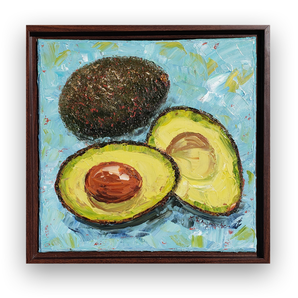 Perfect Avocado 13×13 hung small