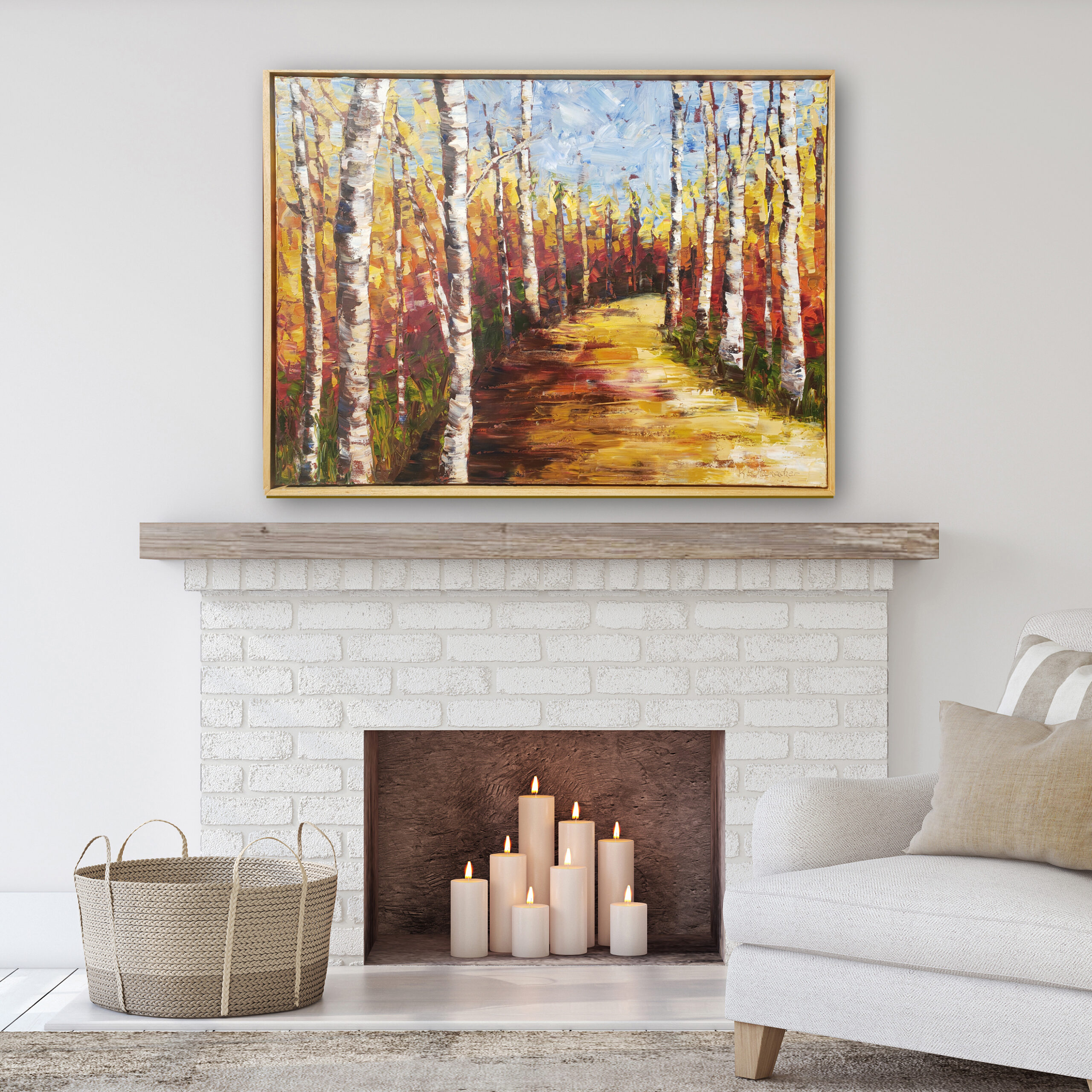 Autumn Stroll 30×40 hung low res