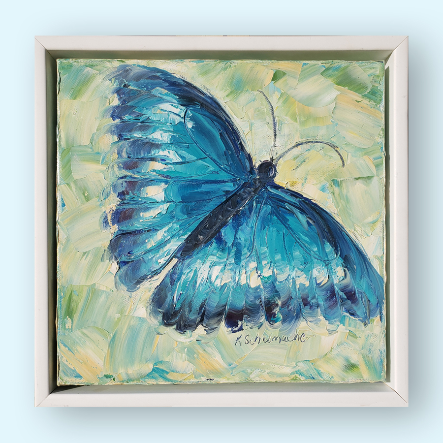 Blue Fly 14×14 hung for web