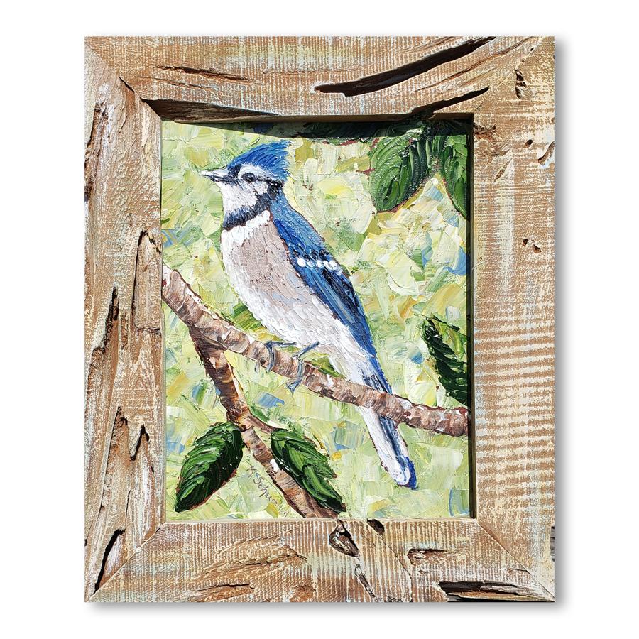 Blue jay framed 16×13 for web