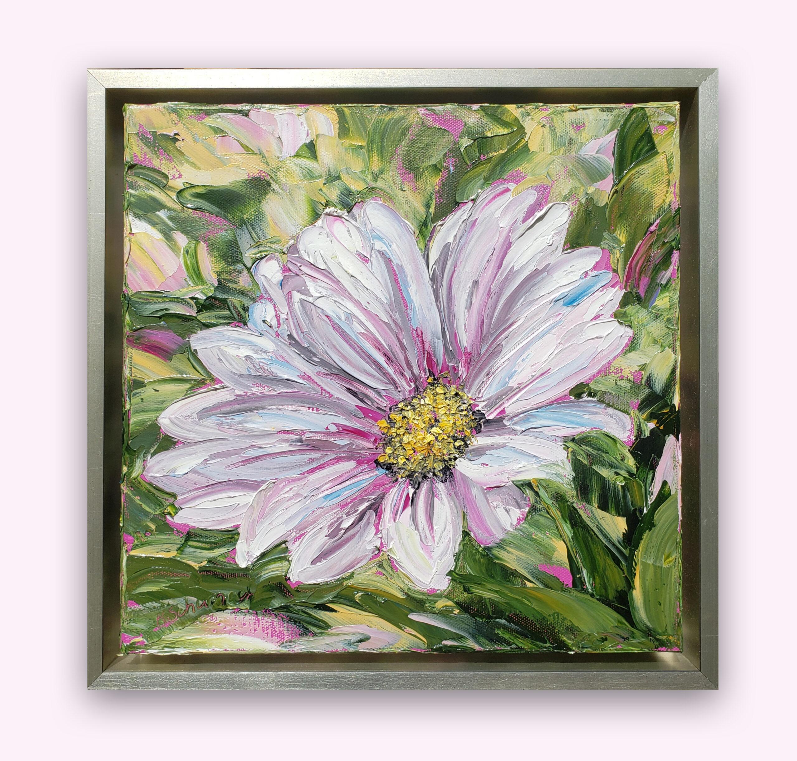 Cosmas Daisy 14×14 hung