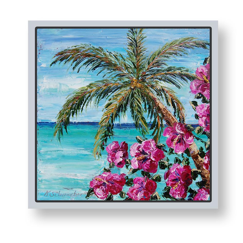 Havana Beach 26×26 framed on background low res