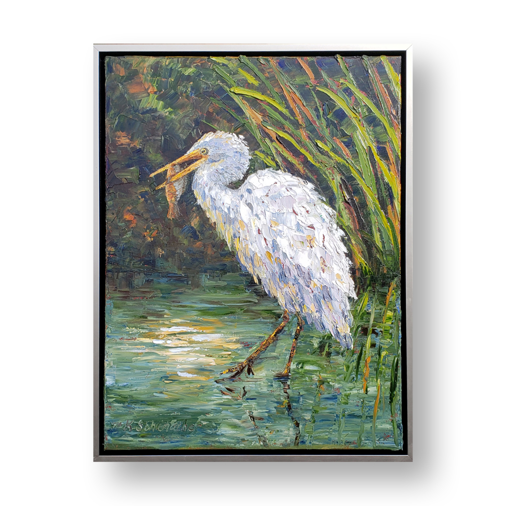Hungry egret 26×20 low res