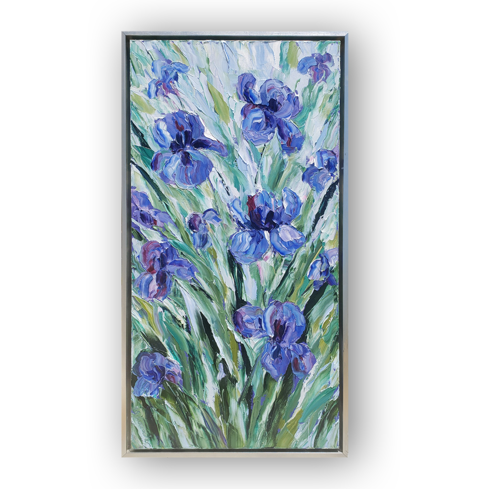 Iris Explosion framed 38×20 white background low res