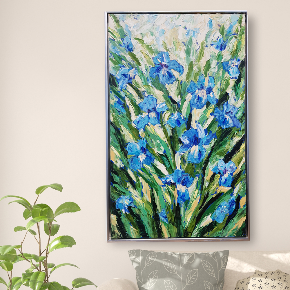 Iris Splendor 32×50 hung for web