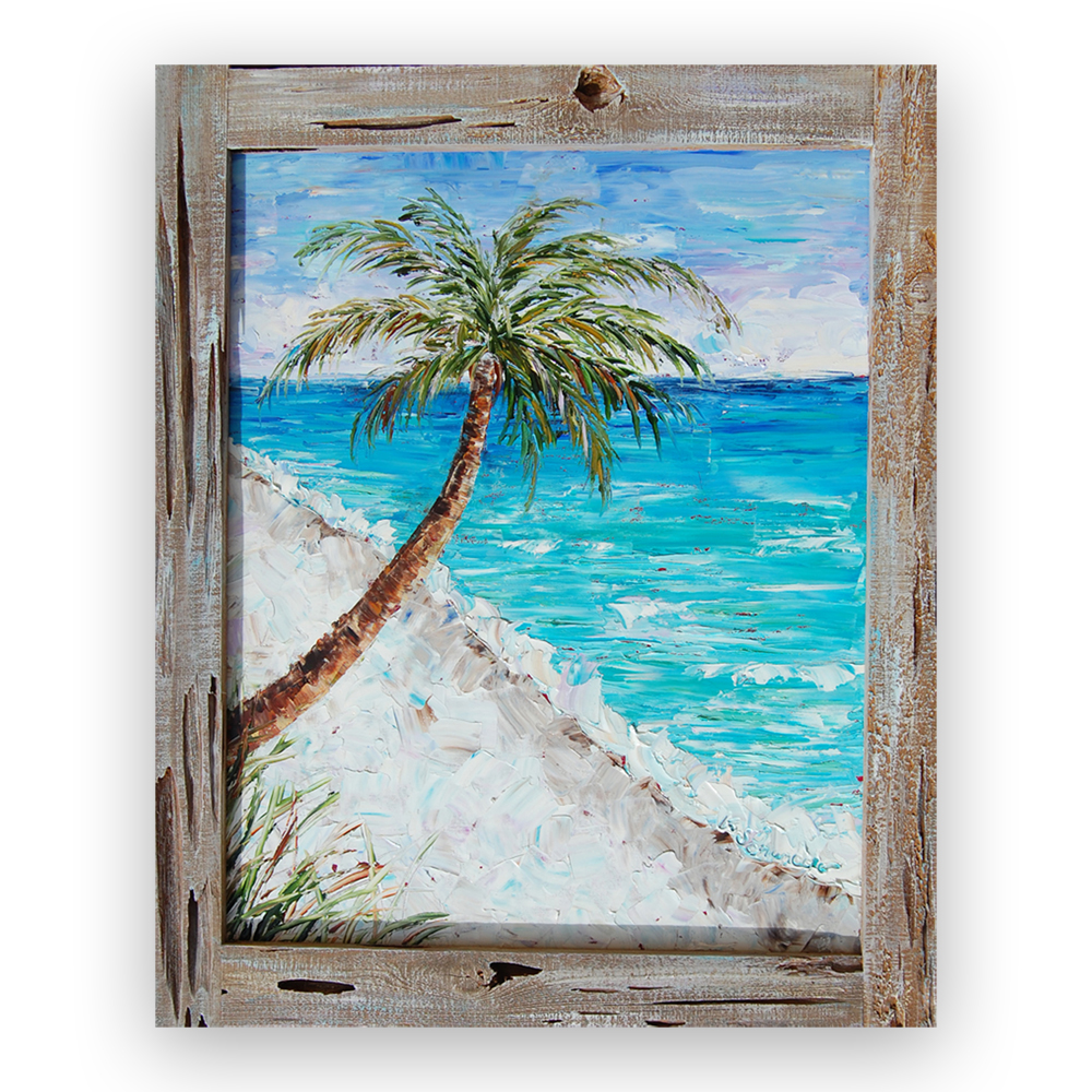 Lone Palm 35×30 framed low res