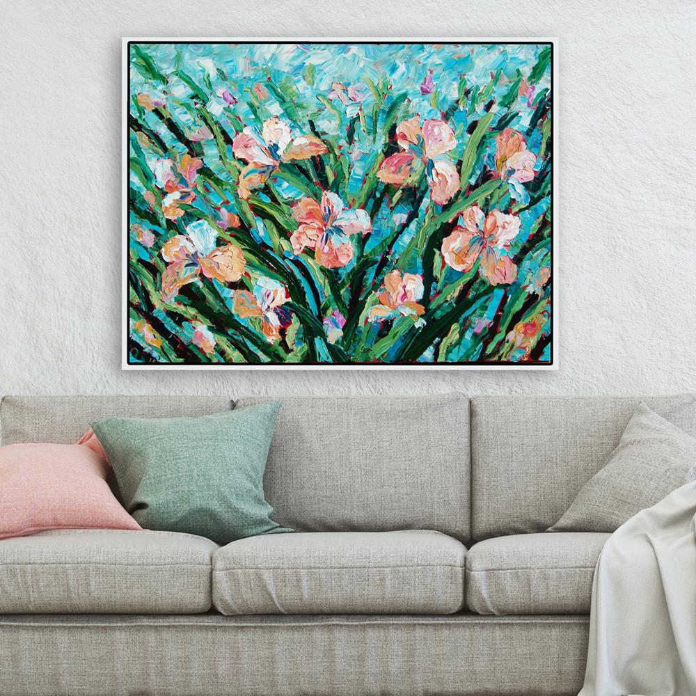 Peachy Creamy 48×36 hung for web