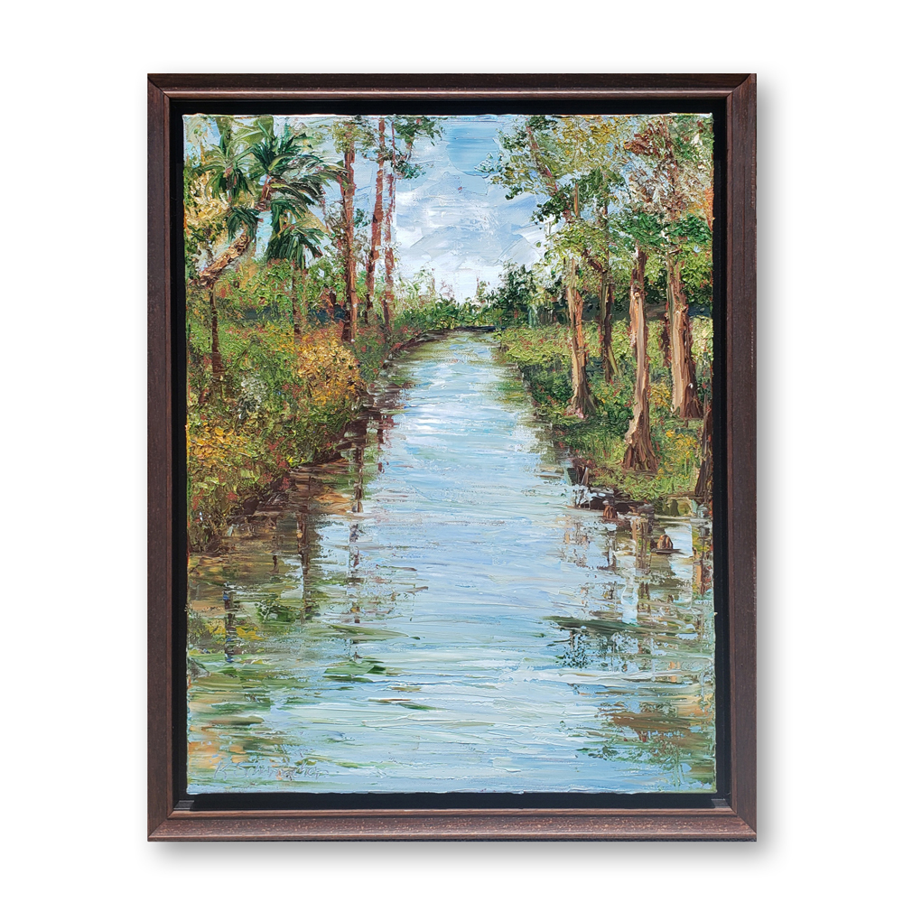 Rocky Creek Study 27×21 hung white wall low res