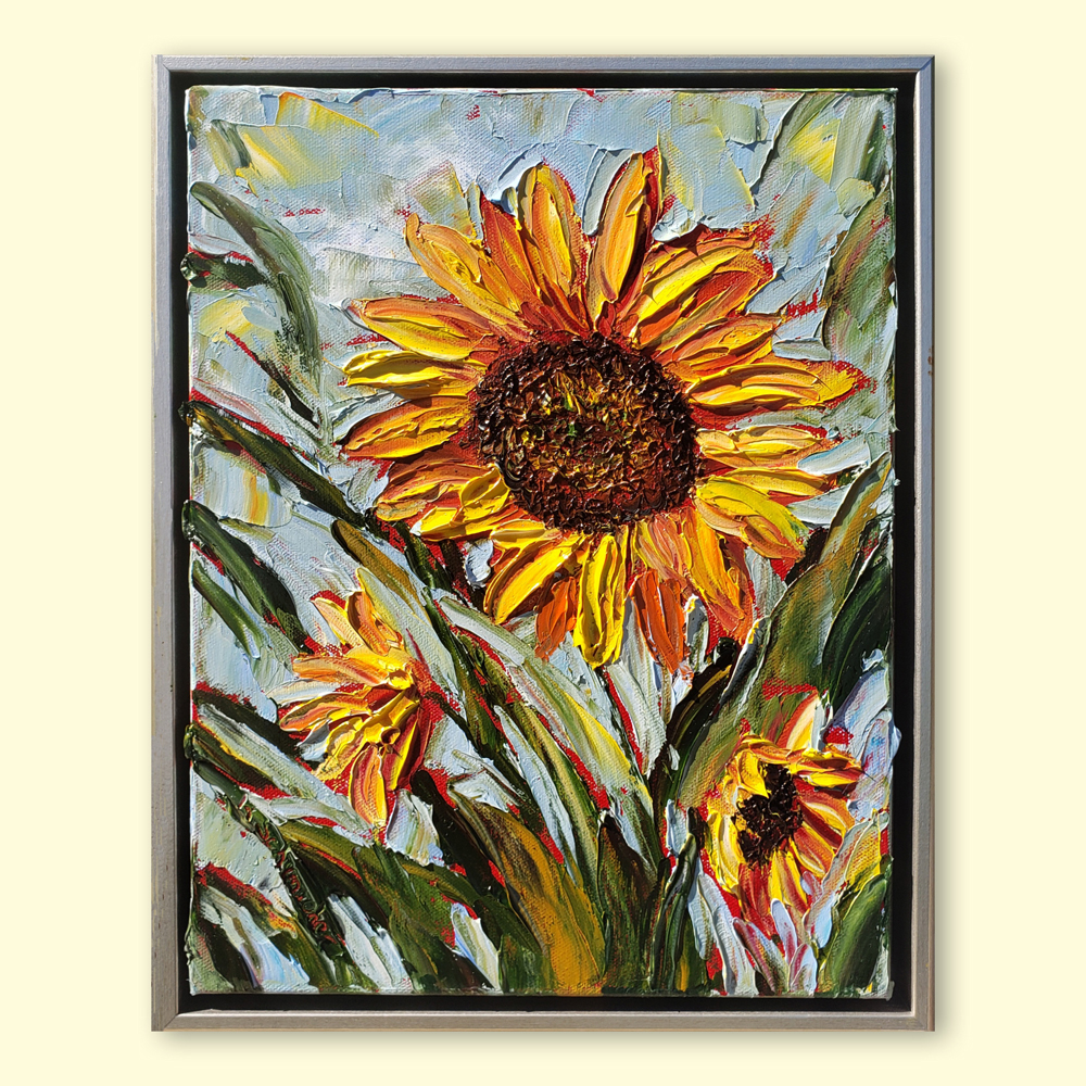 Sunflower happiness 16×13 med hung