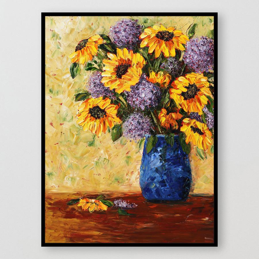 SunflowerExplosion_40x30_Framed krista for web