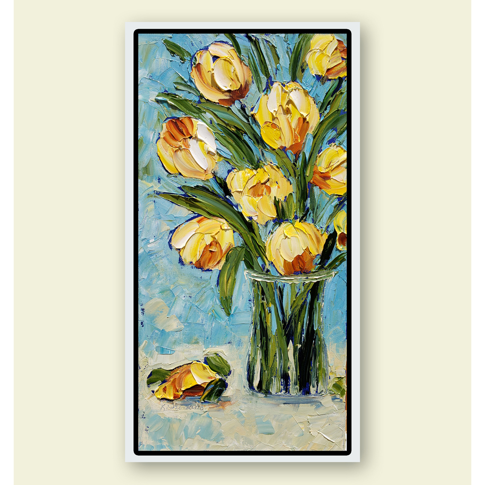 Sunny Tulips 20×10 hung for web