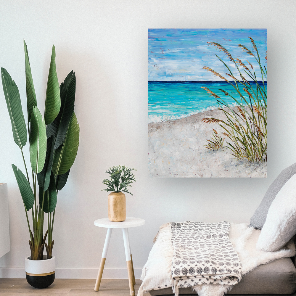 beach day hung 60×48