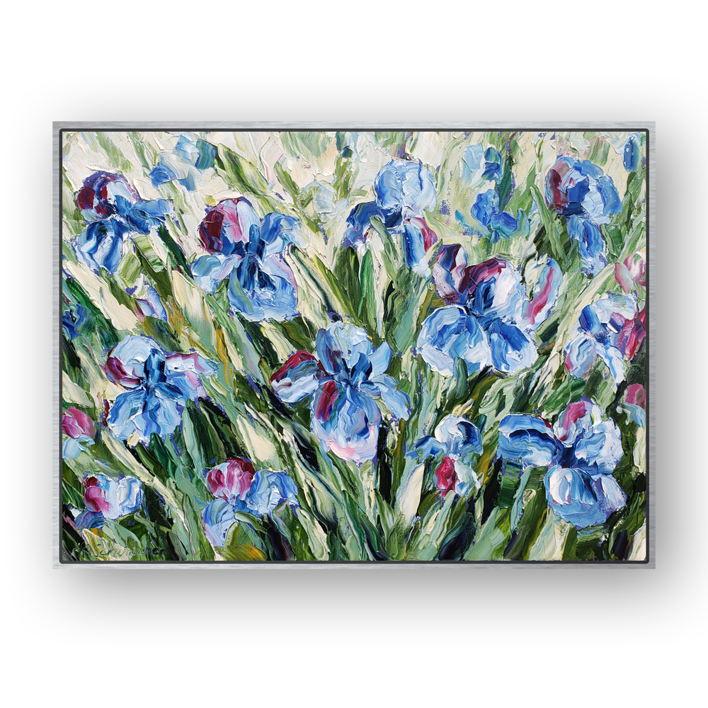 sea Iris 20×26 hung for web