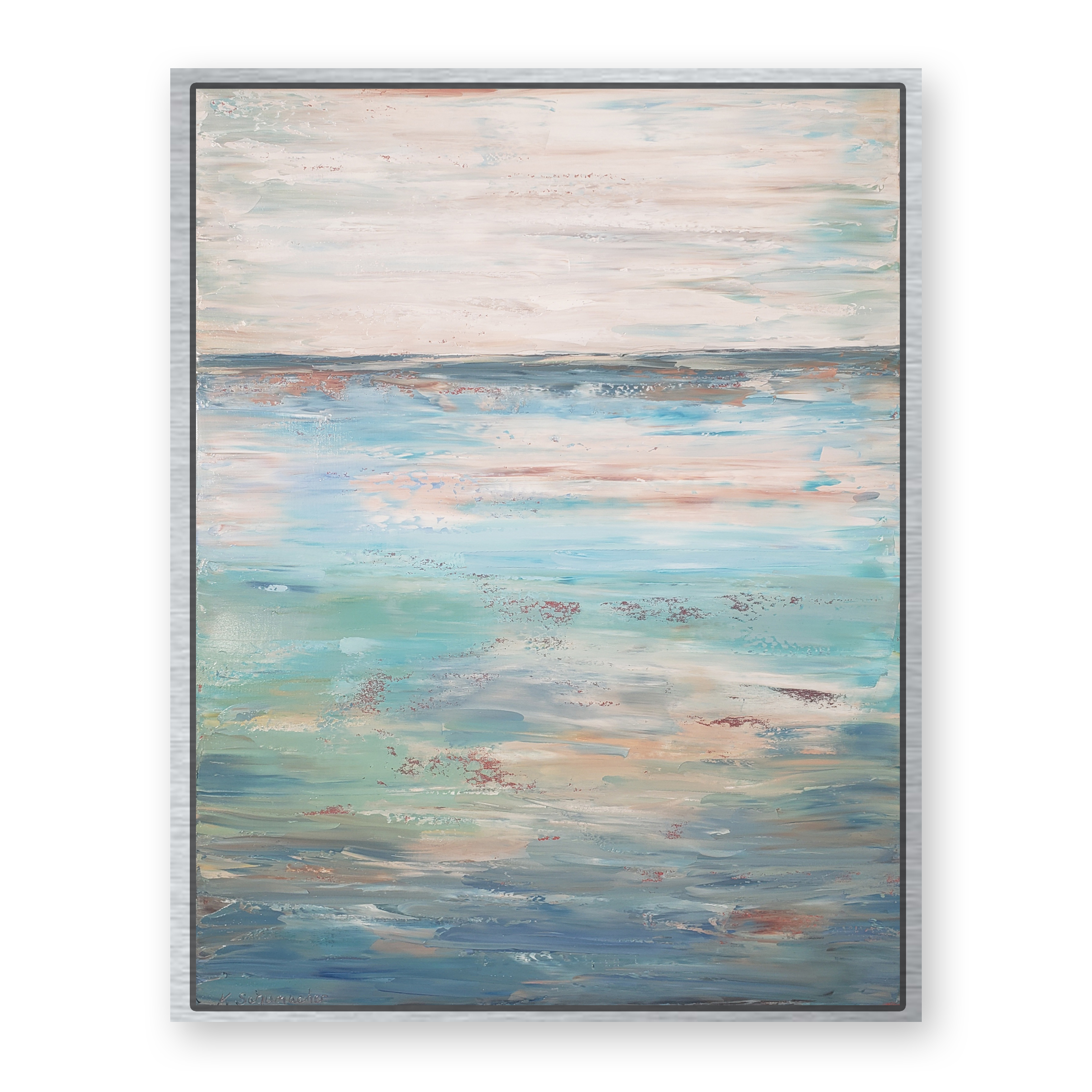 Ocean Blue 42×32 framed white back for web
