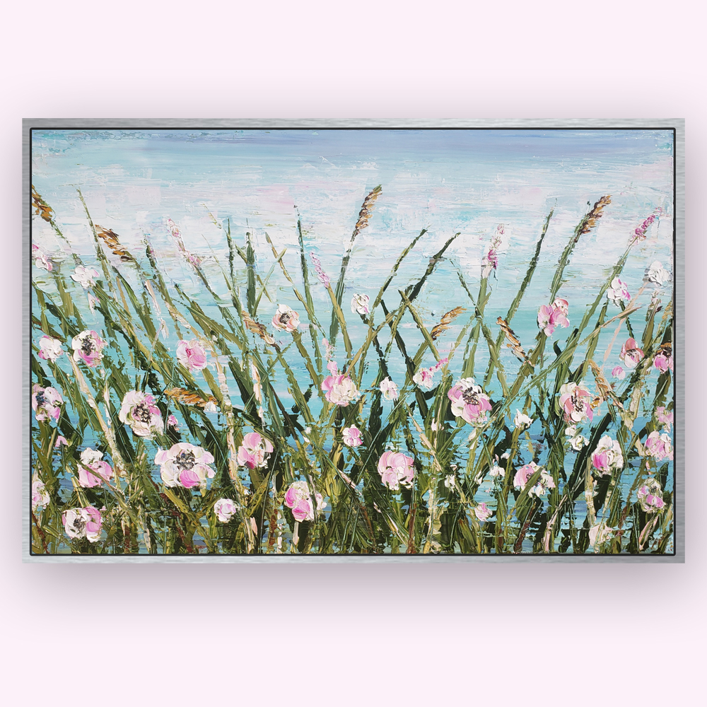 seaside bloom 26×38 hung for web