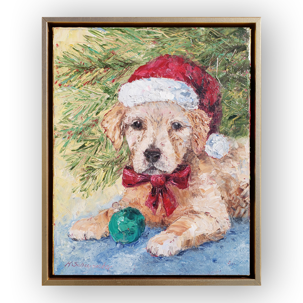 christmas puppy 14×11 for web