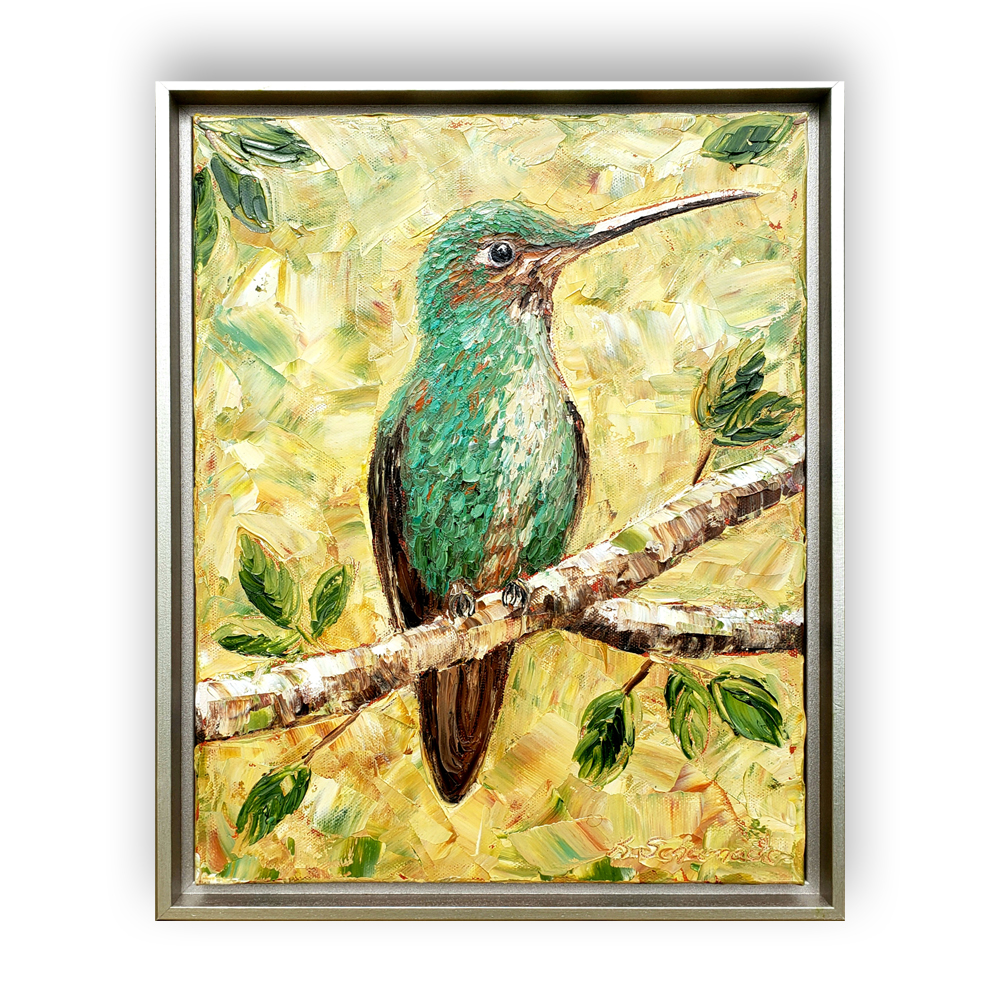 hummingbird majesty 16×13 on background low