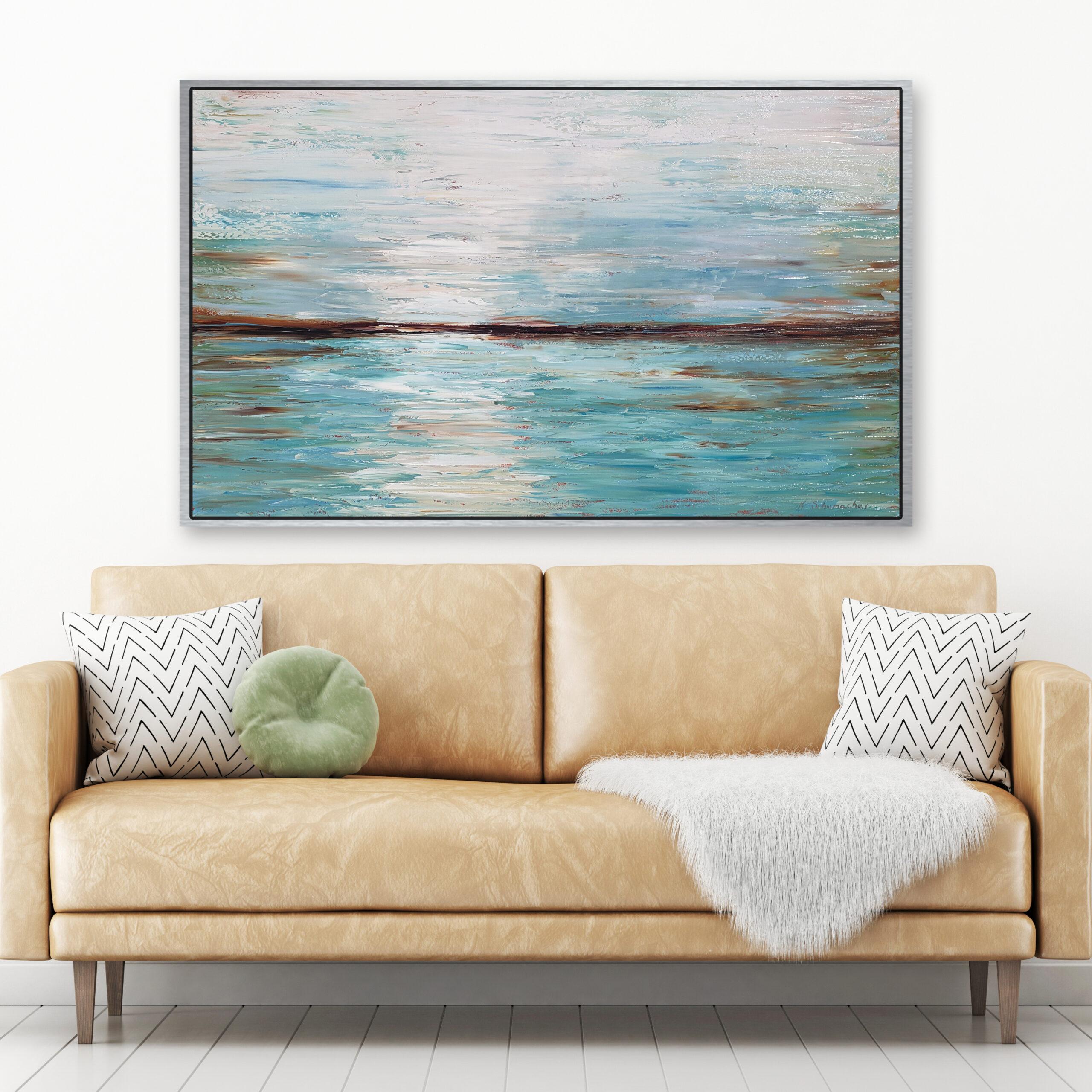 Coastal Serenity 62×38 staged