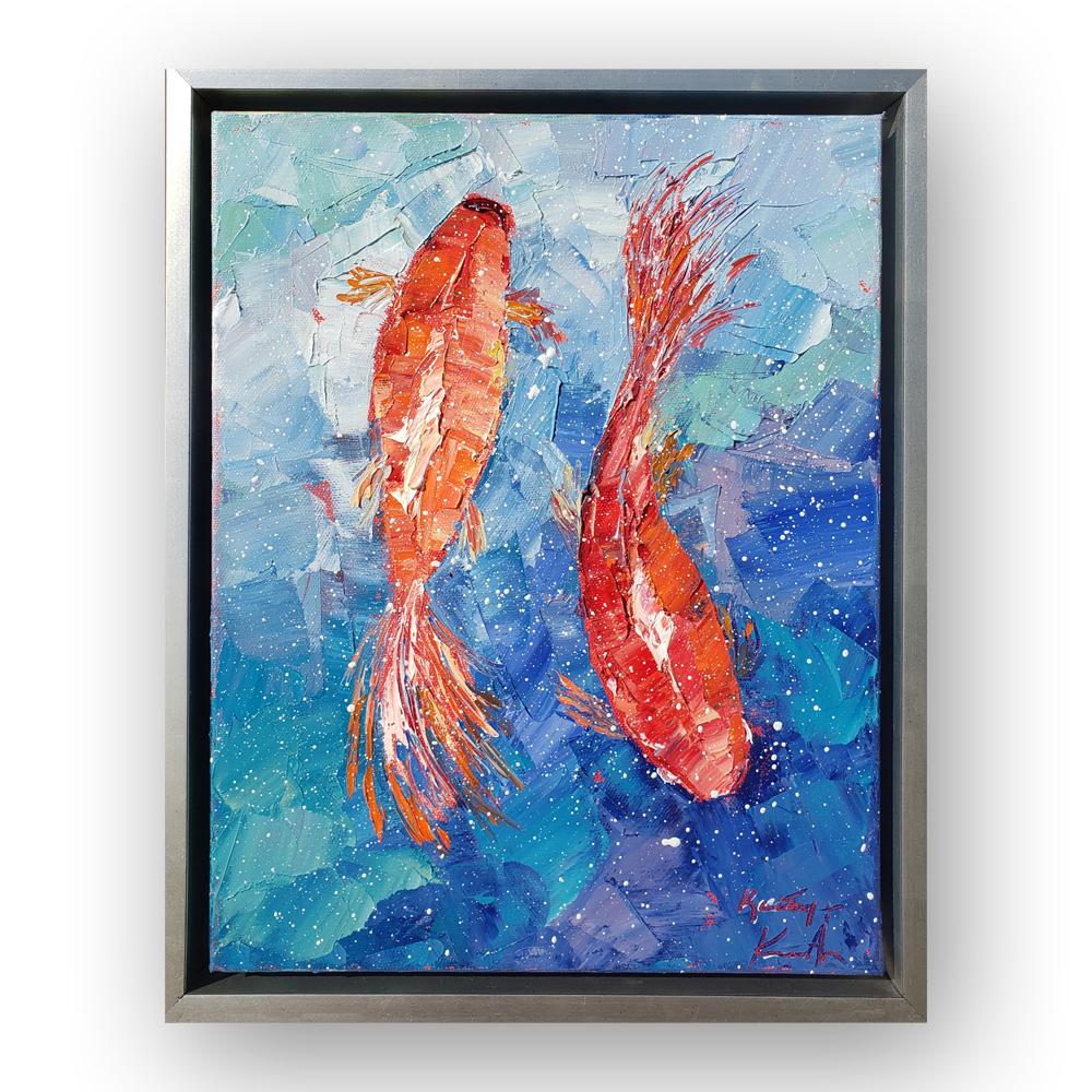 Koi Splash framed 16×13 for web
