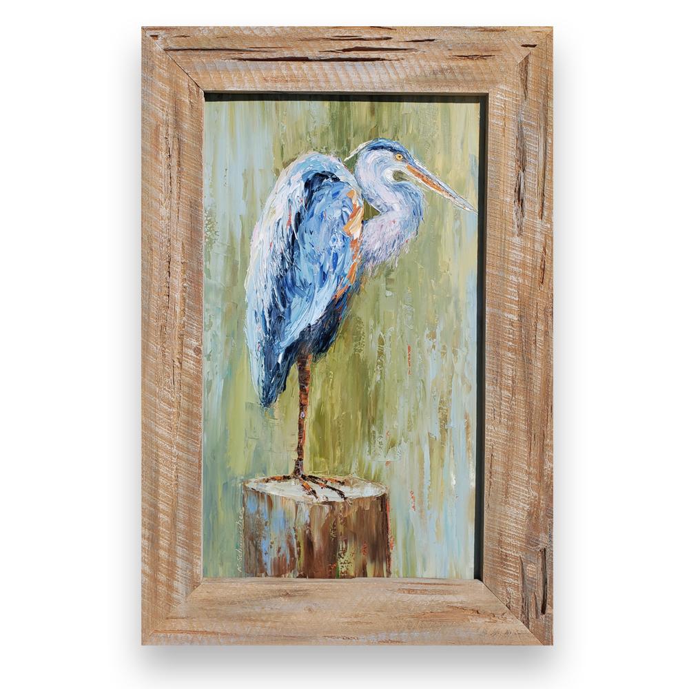 Mr. Heron framed on background low res