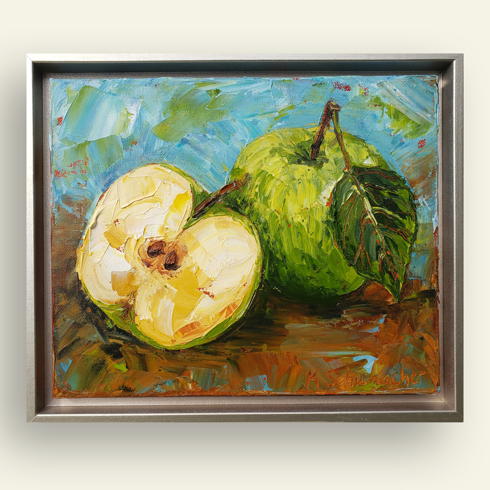 Little Green Apple 10×12 hung for web