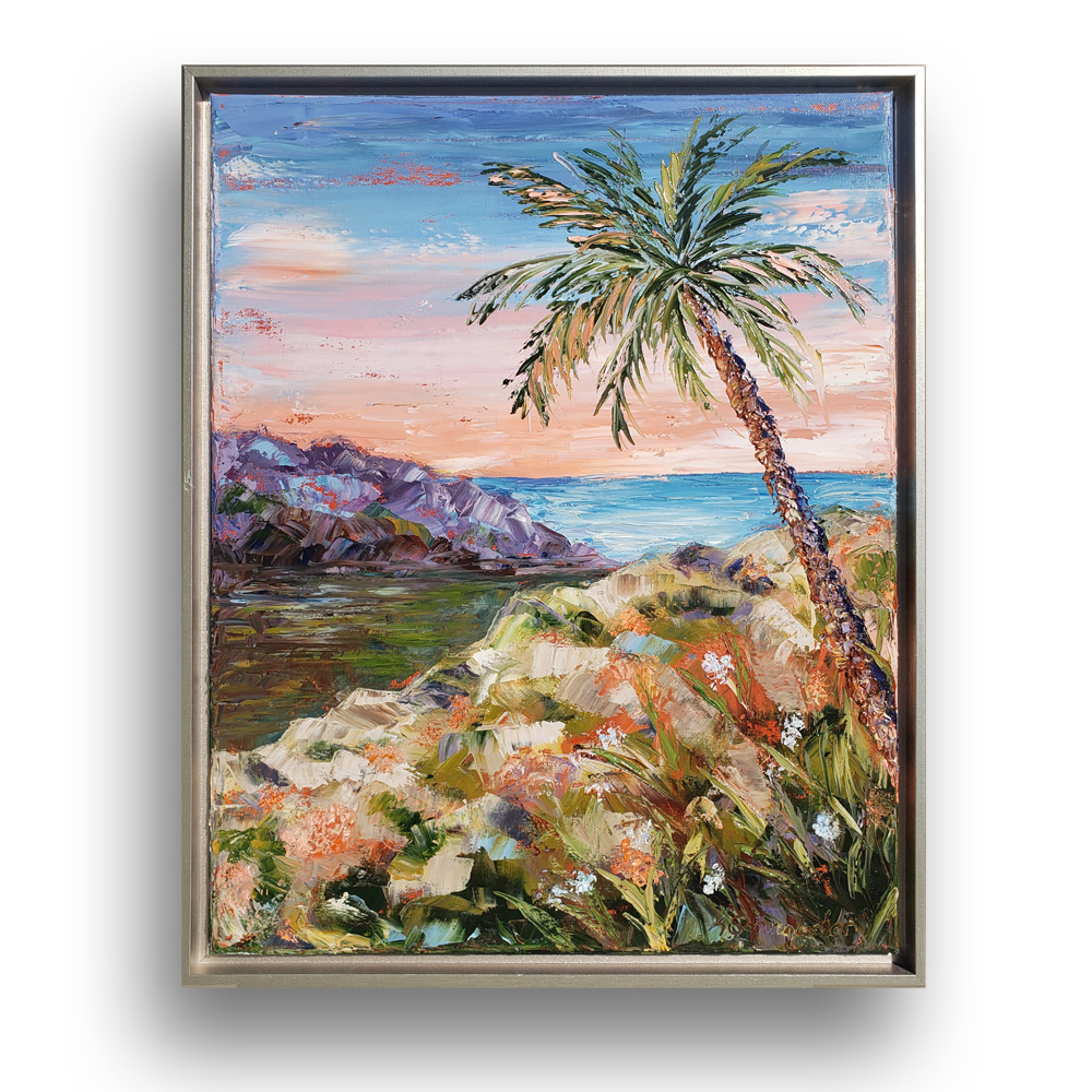 Pacific Paradise framed on background web 22×18