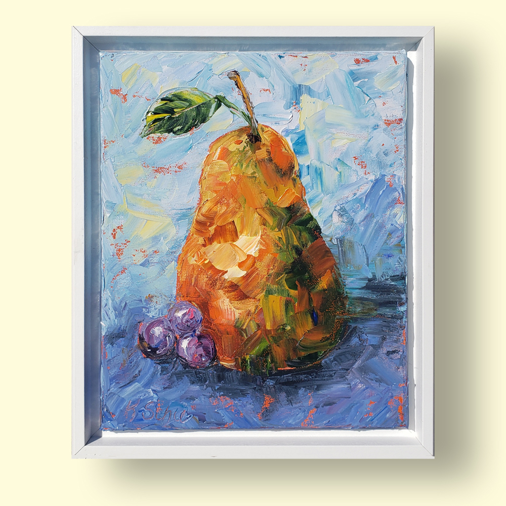 Pear Petite framed 12×10 on background web