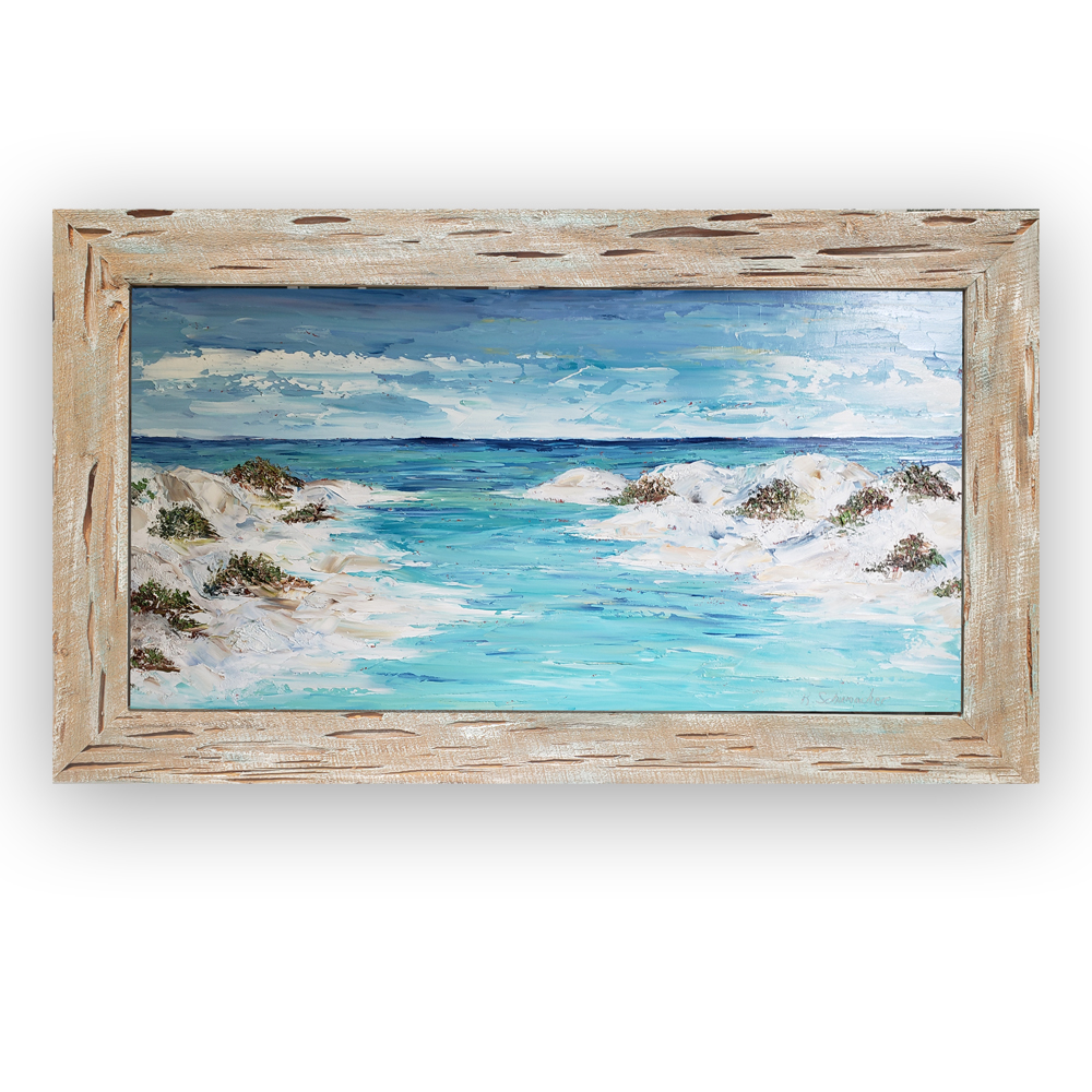 Dune Lake Pass 29×50 framed on background low