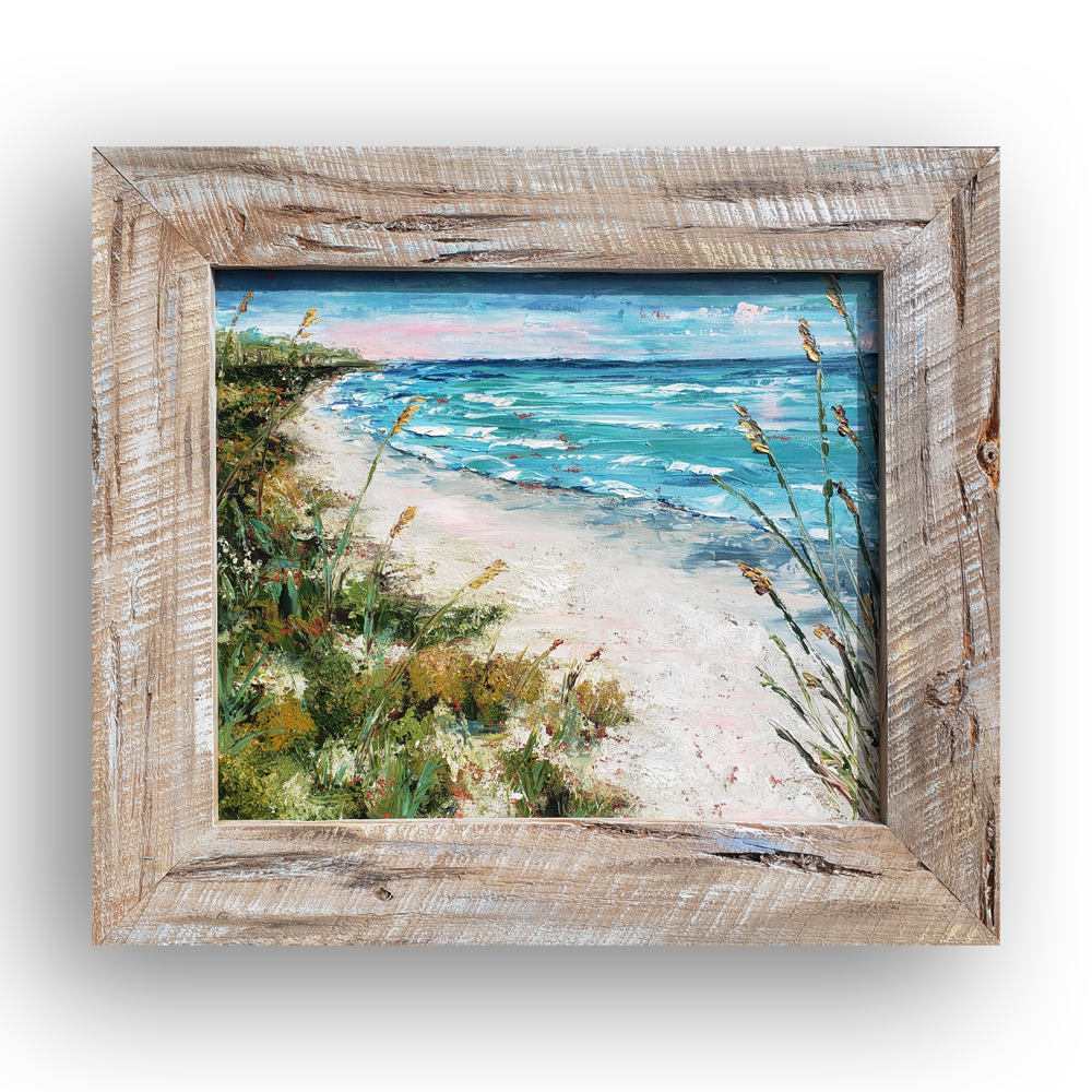 Natural Beauty 25×29 framed on background web
