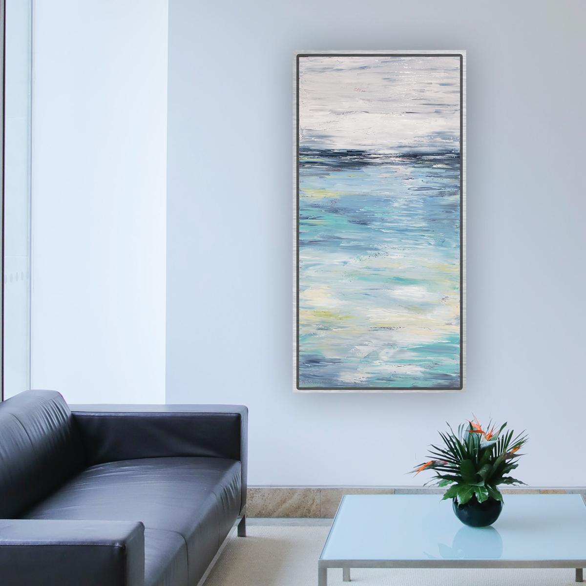 blue warmth hung 50×26