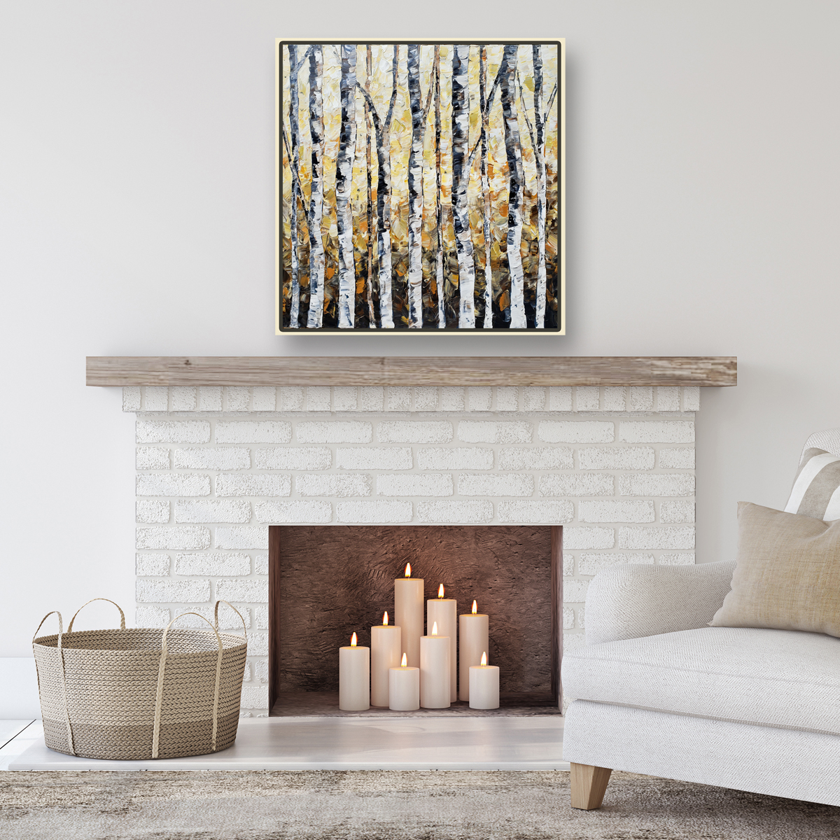 golden forest hung low 38×38