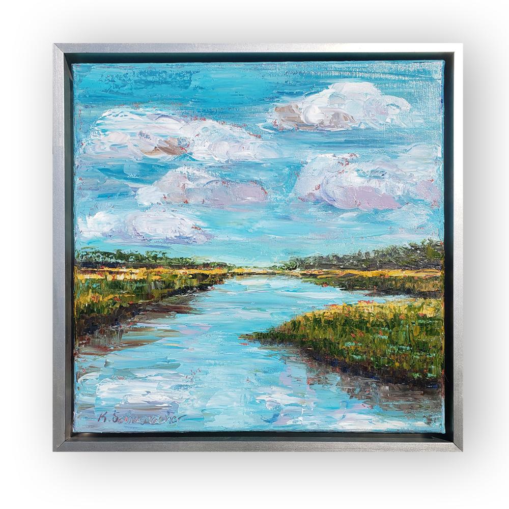Blue Marsh framed 16×16 low hung