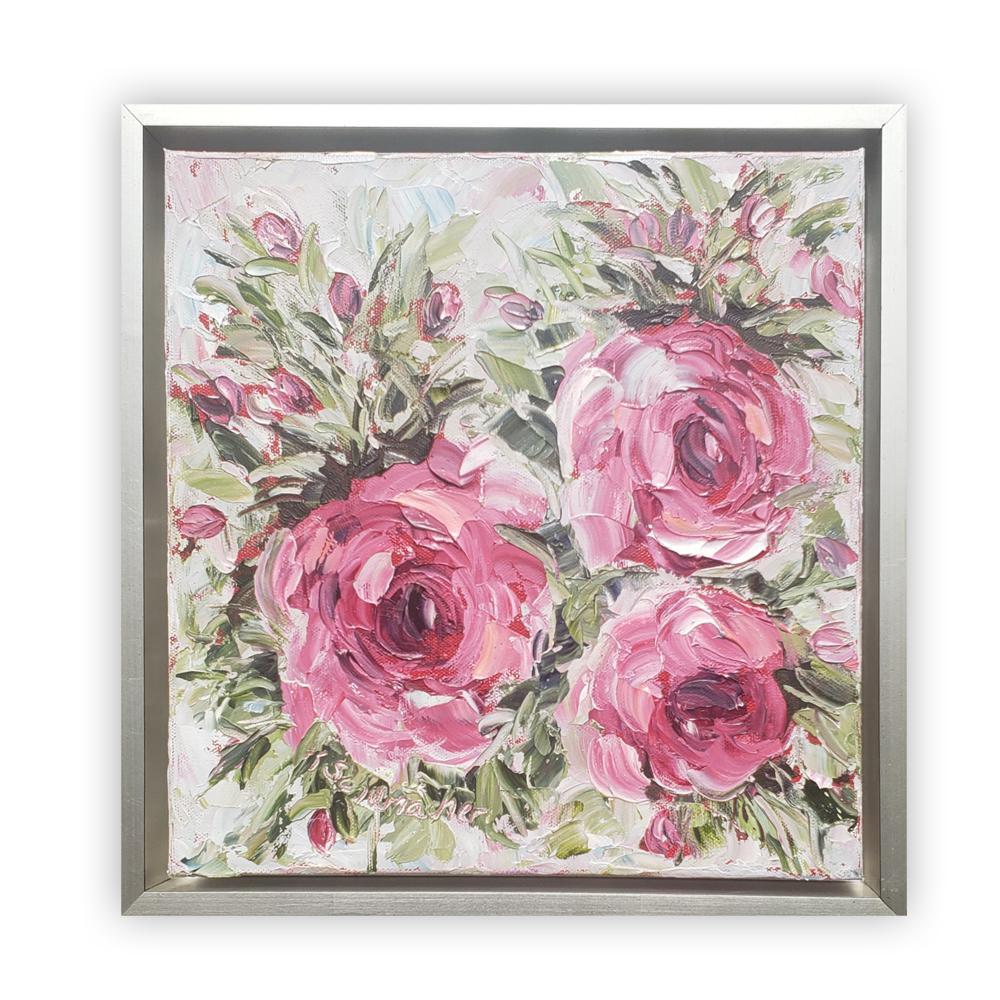 Just Rosy framed on BG low 14×14