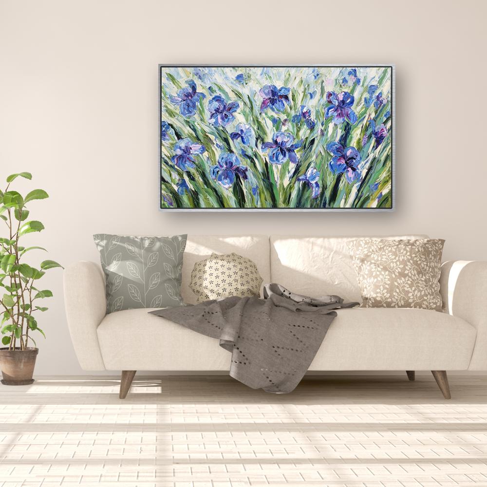 Iris Heaven hung low 32×50