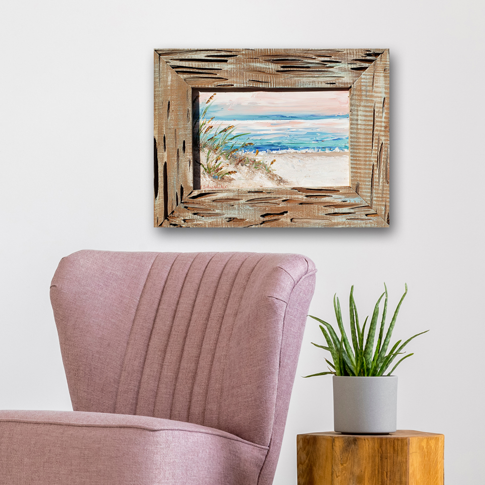 Pastel Calm framed 15.5 x 20.5 on hung low