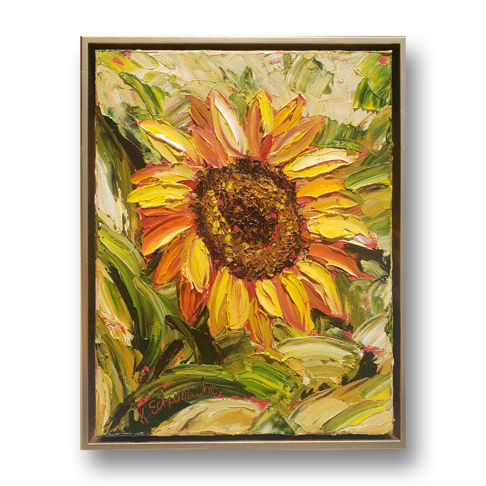Sunflower Brother- R framed on background low 16×13