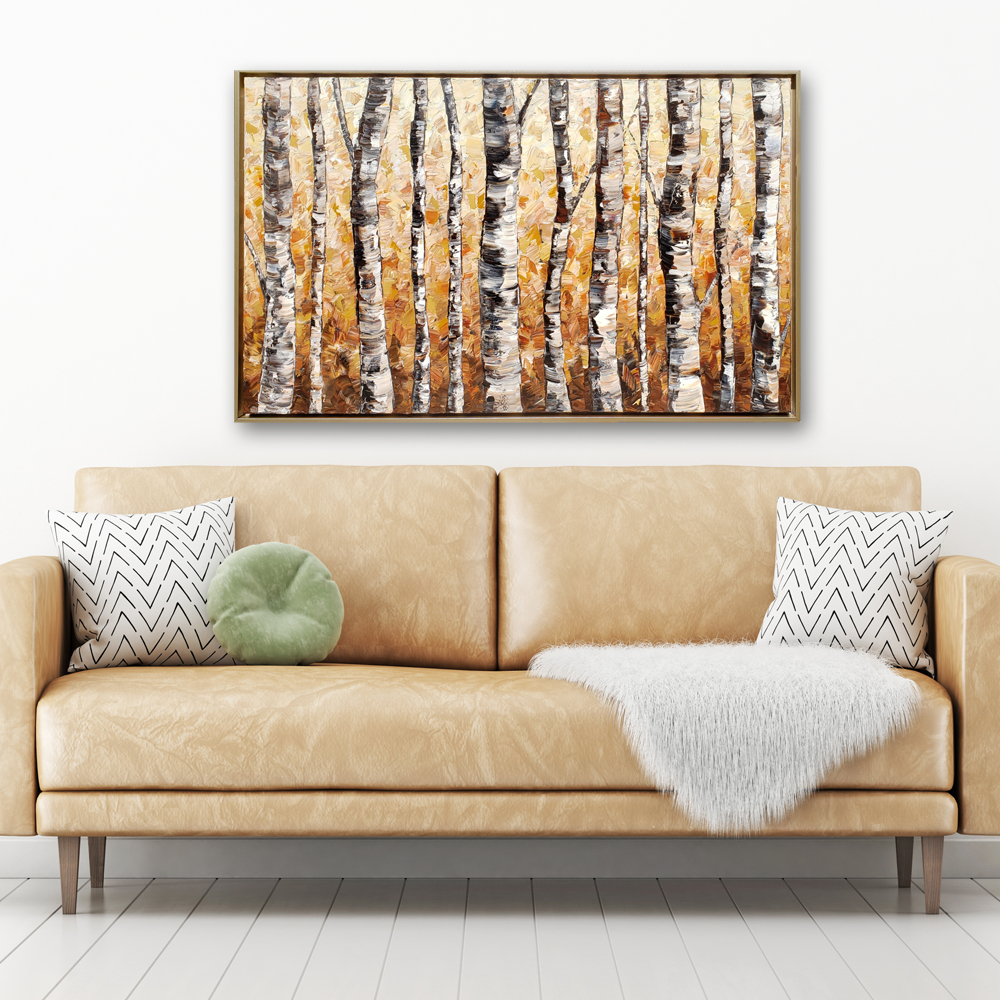 forest gold 32×50 hung